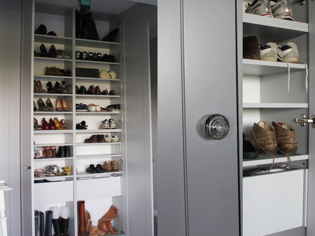 Wnetrze szafy pomysl szafa na buty blum