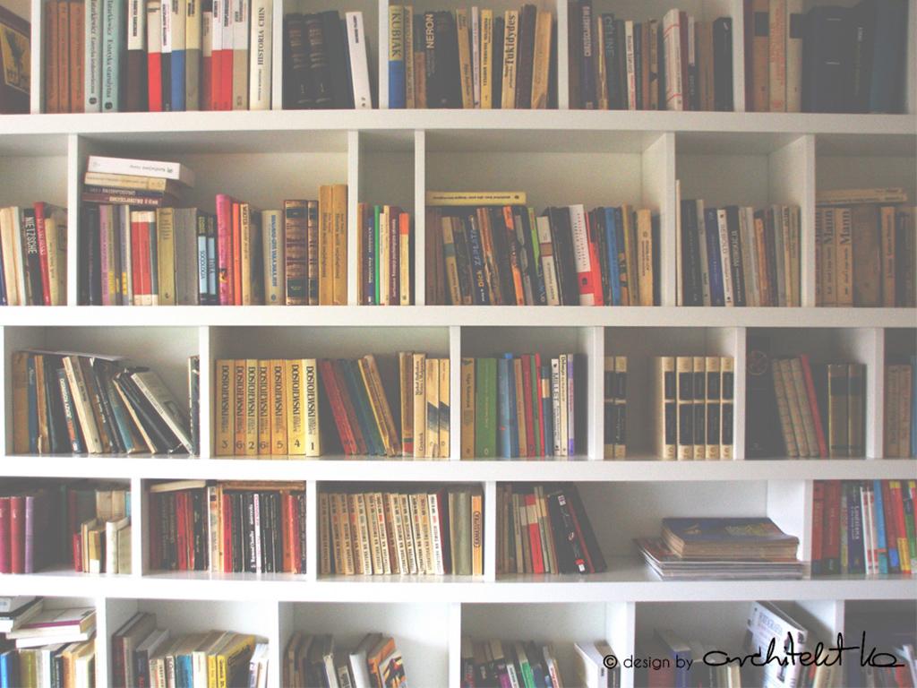 biblioteka regal na ksiazki